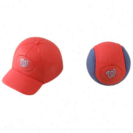 Washington Nationals Separating Ball & Cap Erasers