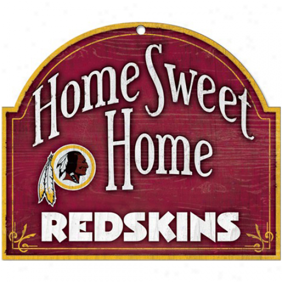 Washington Redskins 11'' X 9'' Home Sweet Home Sign