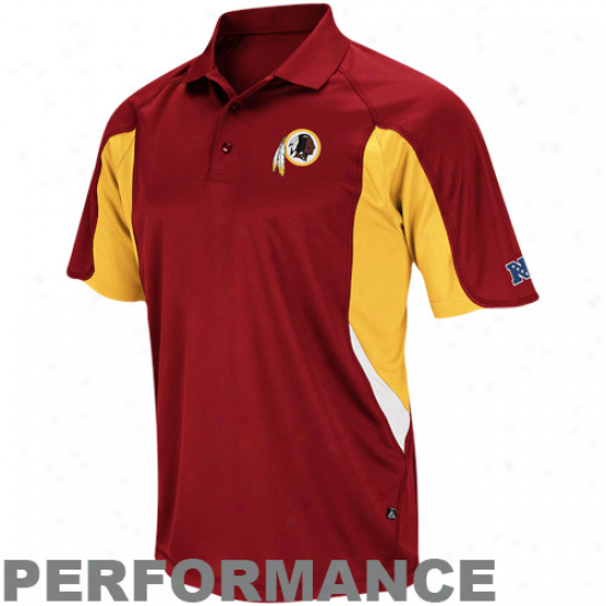 Washington Redskins Burgundy Opportunity Classic Iv Composition Polo