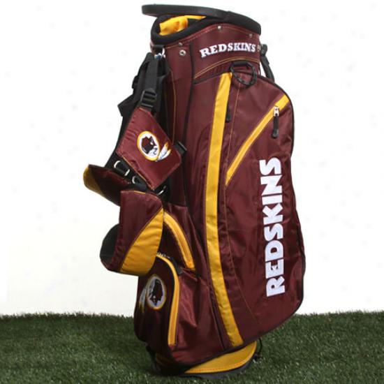 Washington Redskins Burgundy-gold Fairway Stand Golf Bag