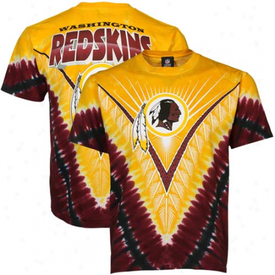 Washington Redskins Tie-dye Premium T-shirt - Gold/burgundy
