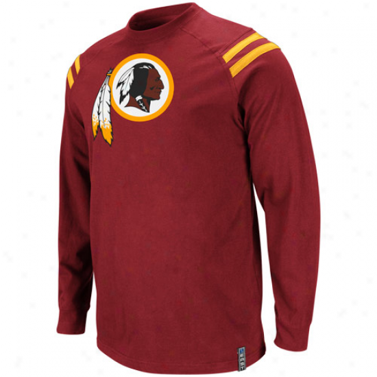 Washington Redskins Victory Pride Iii Premium Long Sleeve T-shirt - Burgundy