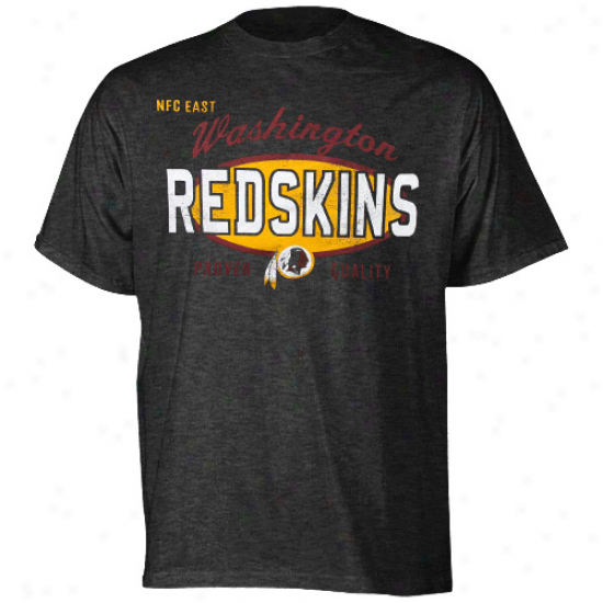 Washington Redskinz Youth Proven Quality Heathered T-shirt - Charcoal