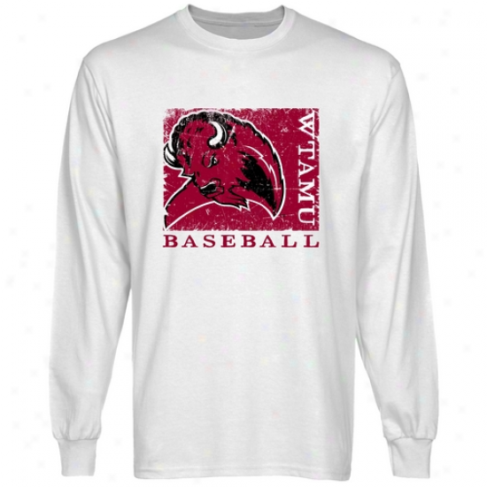 West Texas A&m Buffalo White Sport Stammp Long Sleeve T-shirt