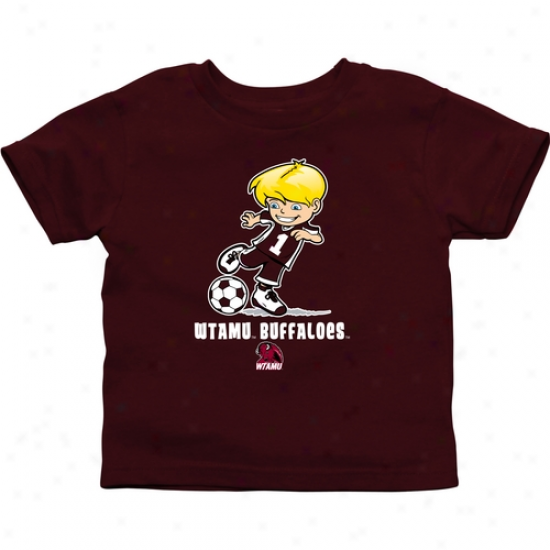 West Texas A&m Buffaloes Infant Boys Soccer T-shirt - Maroon