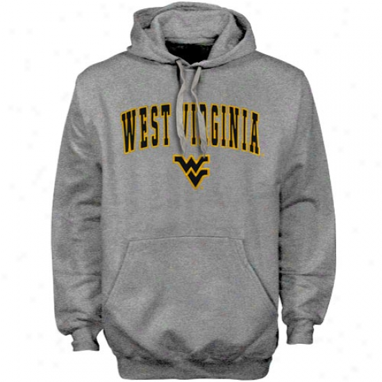 West Virginia Mountaineer sAsh Elegant Twill Hoody Sweatshirt