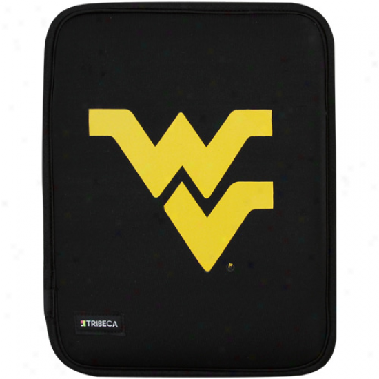 West Virginia Mountaineers Black Apple Ipad Slip Sleeve