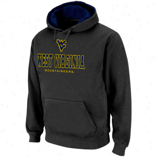 West Virginia Mountaineers Charvoal Sentinel Pullover Hoodie Sweatshirt