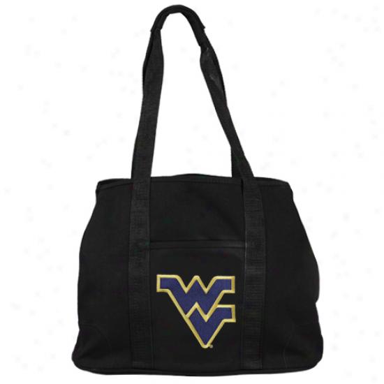 Wesy Virginia Mountaineers Ladies Black Domestic Tote Bag