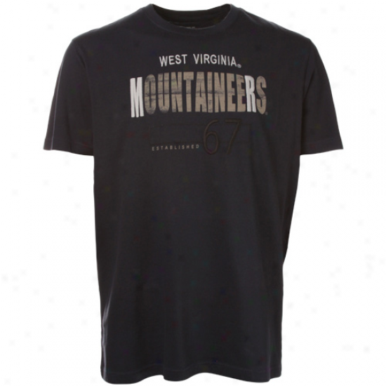 West Virginia Mountaineers Navy Blue Apache Premium T-shirt
