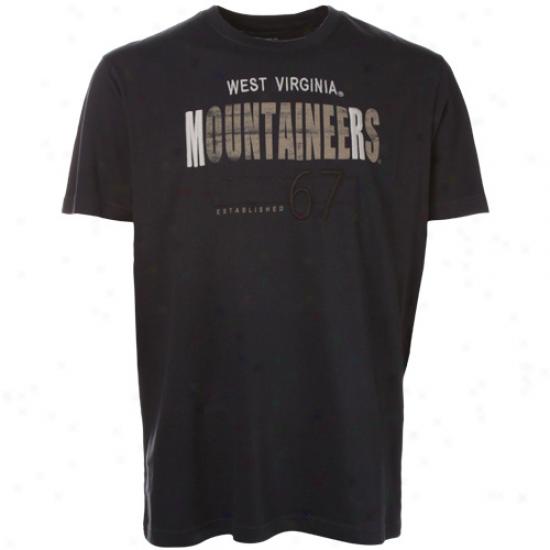 West Virginia Mountaineers Navy Blue Apache Premium T-shirt