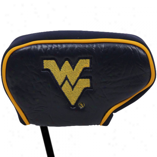 West Virginia Mountaineers Navy Blue Blade Putter Cover