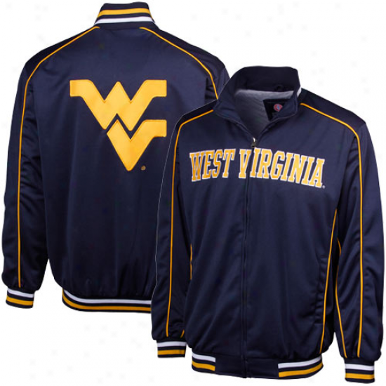 Western Virginia Mountaineers Na\/y Blue Spotlight Full Zip Track Jacket