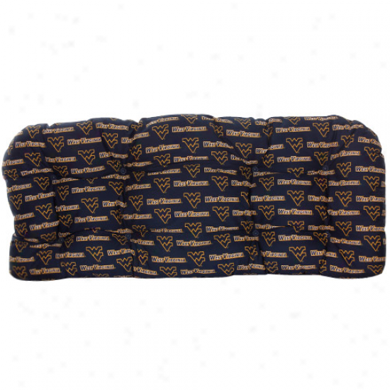 West Virginia Mountaineers Outdoor Loveseat Cushion