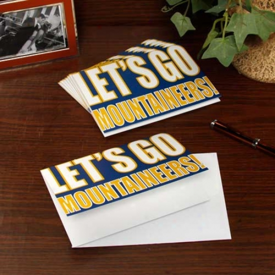 West Virginia Mountaineers Slogan Note Cards
