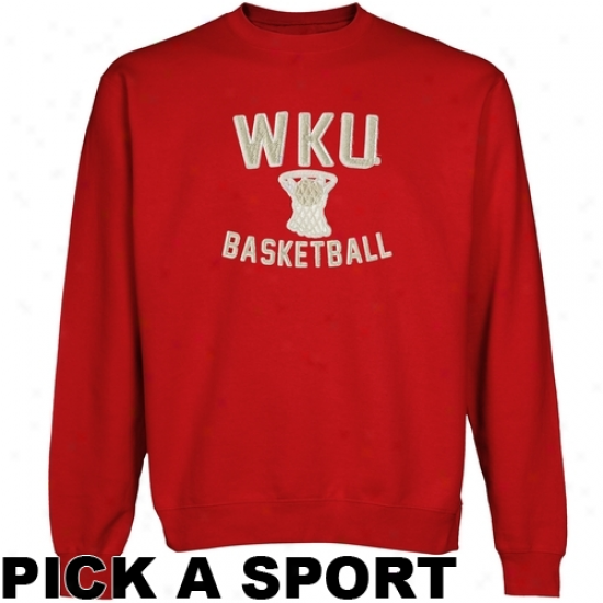 Western Kentucky Hilltoppers Legacy Crew Neck Fleece Sweatshirt - Red