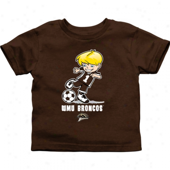 Western Michigan Broncos Toddler Boys Soccer T-shirt - Brown