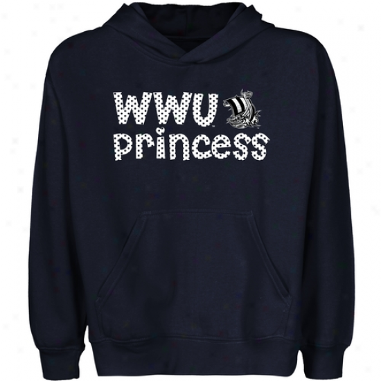 Westerly Washington Viikings Youth Princess Pullover Hoodie - Ships Blue
