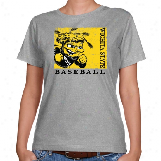 Wichita State Shockers Ladies Ash Sport Stam0 Classic Fit T-shirt