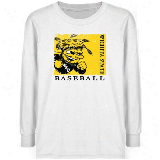 Wichita State Shockers Youth White Sport Stamp T-shirt