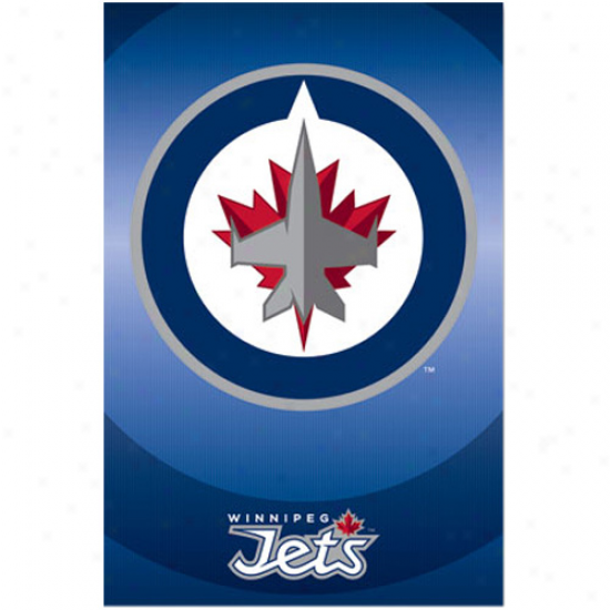Winnipeg Jets 22'' X 34'' Logo Poster