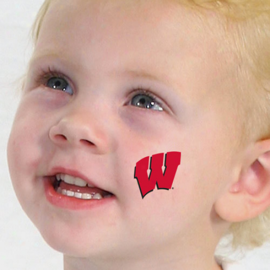 Wisconsin Badgers 4-pack Temporary Tattoos-