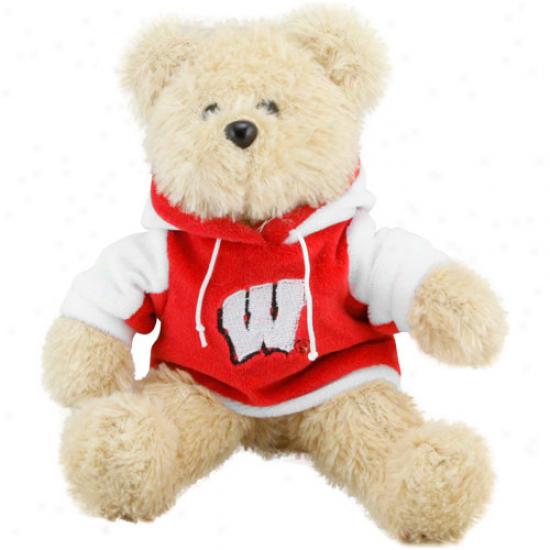 Wisconsin Badgers 8'' Plush Hoodie Bear-