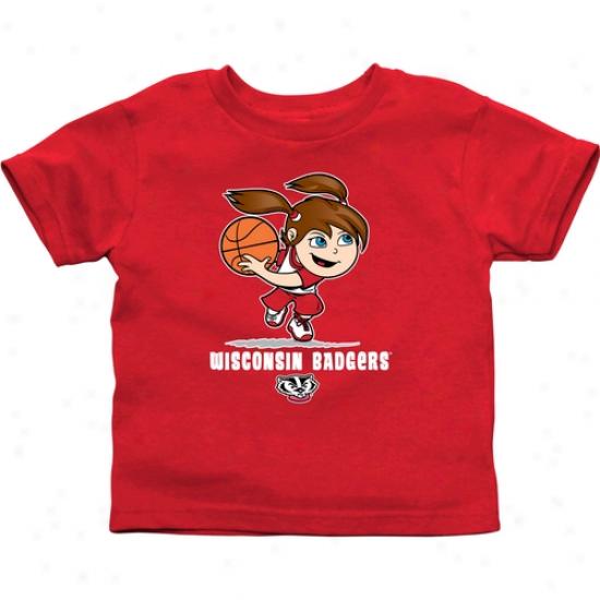 Wisconsin Badgers Infant Girls Basketball T-shirt - Principal