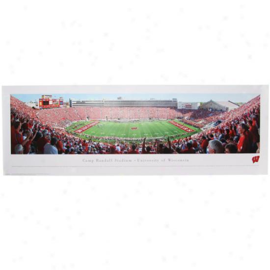 Wisconsin Badgers Stadium 13.5'' X 40'' Panoramic Print