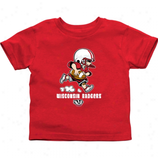 Wisconsin Badgers Toddler Little Squad T-shirt - Cardinal