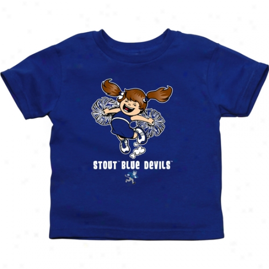 Wisconsin Stout Blue Devils Infant Chee Squad T-shirg - Royal Blue