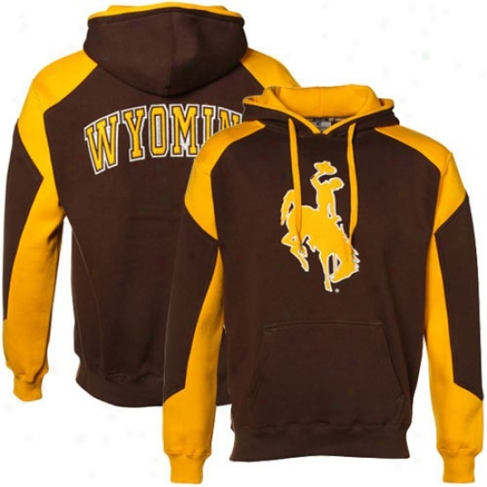Wyoming Cowboys Brown-wyoming Prairie Gold Challenger Hoody Sweatshirt