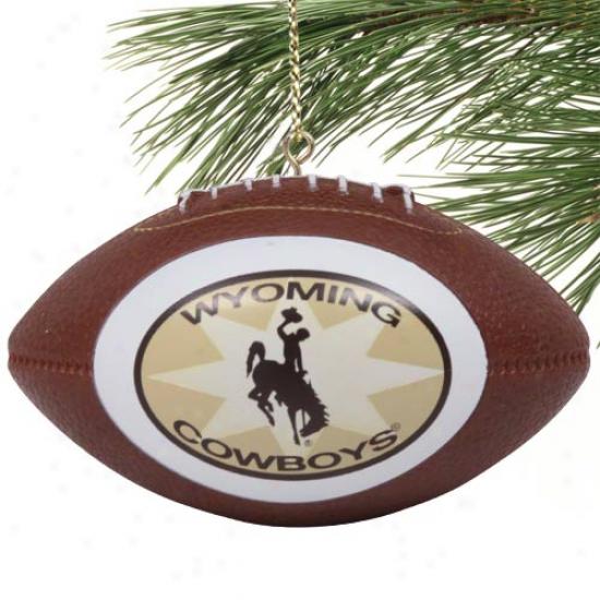 Wyoming Cowboys Mini Replica Footbaall Ornament