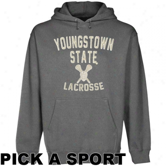Youngstown State Penguins Legacy Pullover Hooeie - Gunmetal