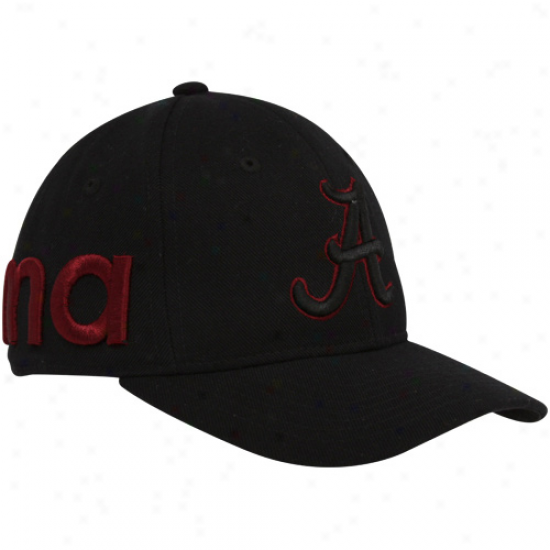 Zephyr Alabama Crimson Tide Black Marquee Fitted Hat