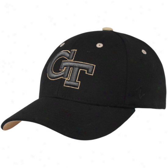 Zephyr Georgia Tech Yellow Jackets Black Fadeout Ii Z-fit Hat