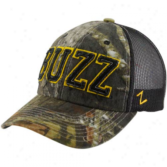 Zephyr Georgia Tche Yellow Jackets Mossy Oak Camo Decoy Adjustable Hat