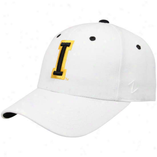 Zephyr Iowa Hawkeyes White Dh Fitted Hat