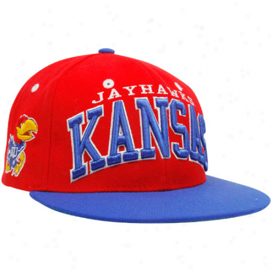 Zephyr Kansas Jayhawks Crimson-royal Blue Superstar Snapback Adjustable Hat