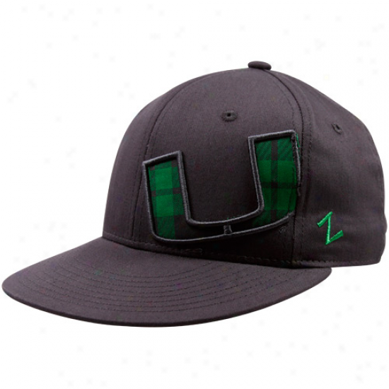 Zephyr Miami Hurricanes Gray Racer Fitted Hat