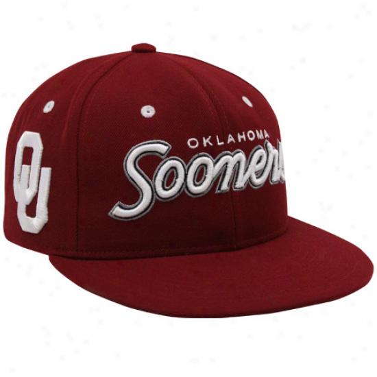 Gentle Oklahoma Sooners Crimson Rainmaker Snapback Adjustable Hat