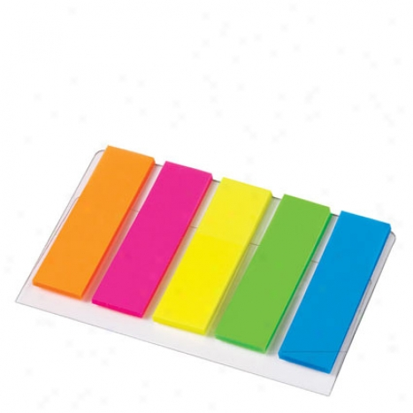 1/2 Inch Flags 5 Pm, 20 Flags/pad By Avery - Bright Colors