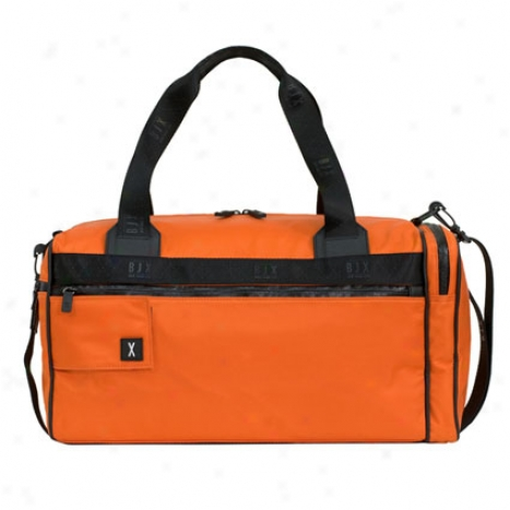 19 Inch Square Duffle Bag Nylon By Bjx - Electric Tangerine
