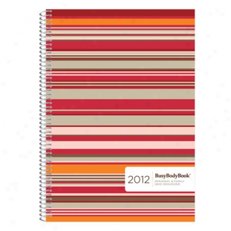 2012 Personal & Family Grid Organizer By Busybodybook - Red Licorice