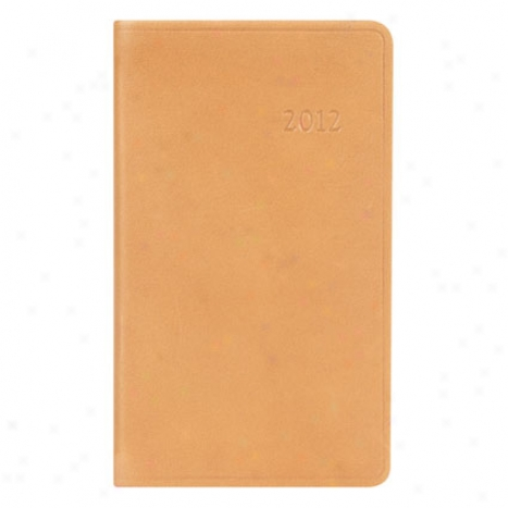 2012 Small Pocket Weekly Datebook - Tan Leather