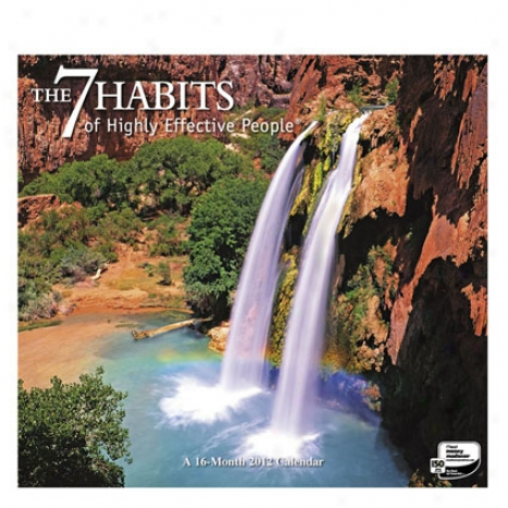 2012 The 7 Habits Of Extremely Effective People Wall Calenda Near to Franklincovey