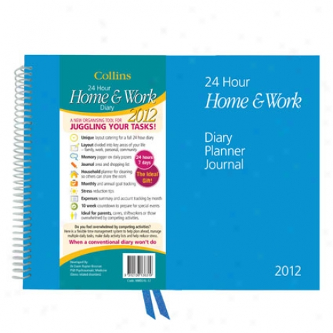 24 Hour Home & Worl Wire-bound Planner - Jan 2012 - Dec 2012