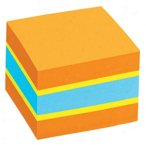 2x2 Sticky Notes Cube 400 Sheets/pad By Avery - Bright Colors