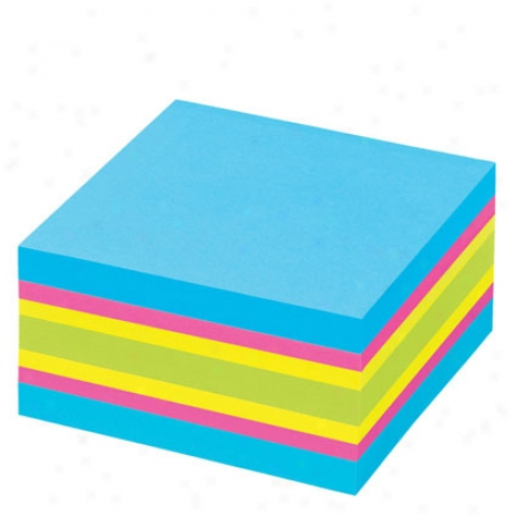 3x3 Sticky Notes Cube 400 Sheets/pad B6 Avey - Bold Colors
