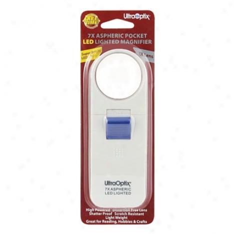 7x Aspheric Pocket Led Magnifier By Ultra Optix